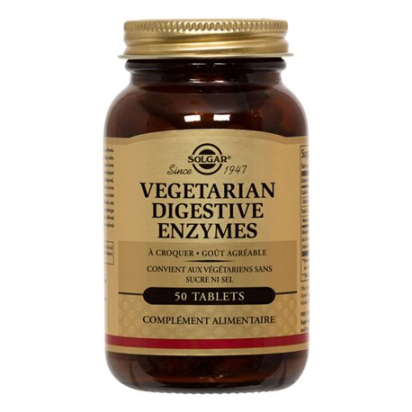 SOLGAR 5 Vegetariana enzimas digestivas tabletas masticables A