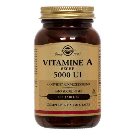SOLGAR Vitamine A avec Vitamine C 100 Comprimés