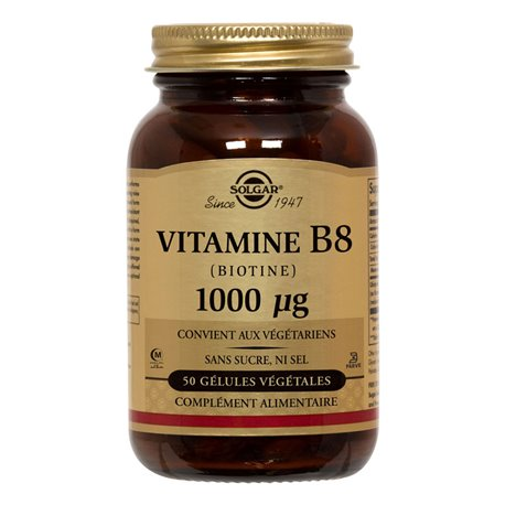 Vitamin B8 Biotin SOLGAR 1000 mcg 50 Vegetable Capsules