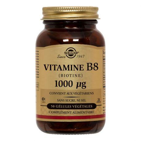Vitamina B8 Biotina SOLGAR 1000 mcg 50 Cápsulas vegetales