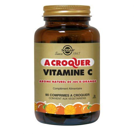 SOLGAR Vitamine C Gout orange 500 mg 90 Comprimés à croquer