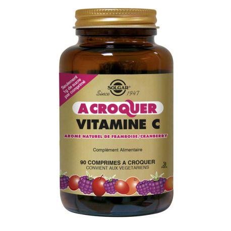 SOLGAR vitamina C Cranberry Raspberry