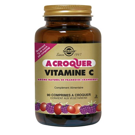 SOLGAR Vitamine C Framboise Cranberry