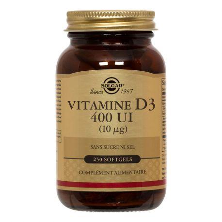 SOLGAR Vitamina D3 250 Cápsulas Blandas GM