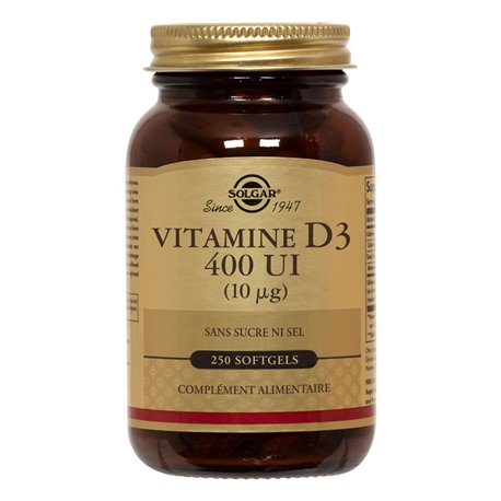 SOLGAR Vitamine D3 GM 250 Softgels