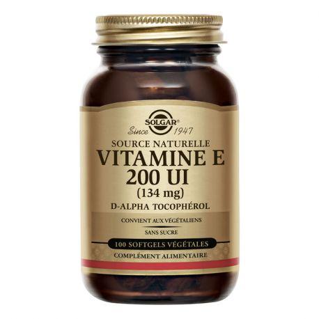 SOLGAR 134 mg Vitamina E 50 a 200 UI de cápsulas