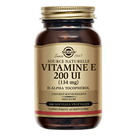 SOLGAR Vitamina E 200 UI 134 mg 50 comprimits