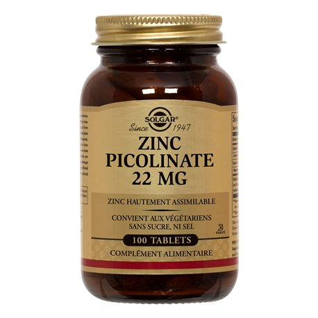 SOLGAR Zinc Picolinat 22 mg 100 tablets