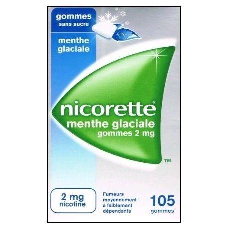GUM Nicorette gratis 2mg GELAT MENTA SUCRE 105