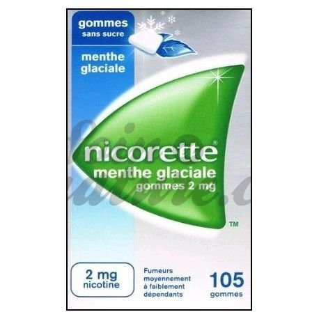 Nicorette GUM 2MG ICY MINT SUGAR FREE 105