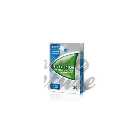 Nicorette 4MG 30 ICY MINT GUM SUGAR FREE