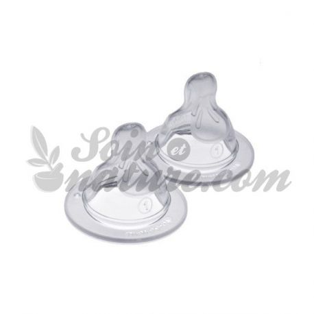 Silicone Teat Speed ​​1 Slow Flow - MAM, 2 Pk