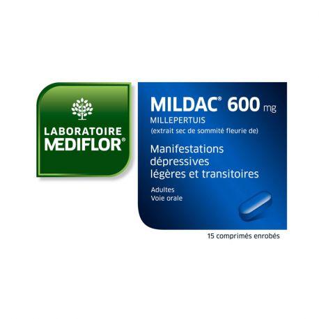 MILDAC 600 MG MANIFESTATIONS DEPRESSIVES 15 COMPRIMES