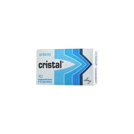 CRISTAL 10 SUPPOSITOIRES GLYCERINE ENFANT