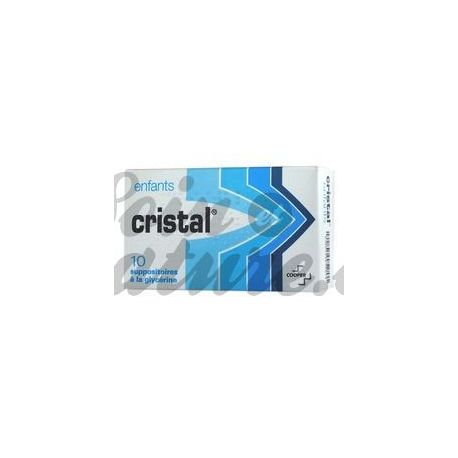 CRYSTAL SUPPOSITORIES GLYCERINE CHILD COOPER BOX 10
