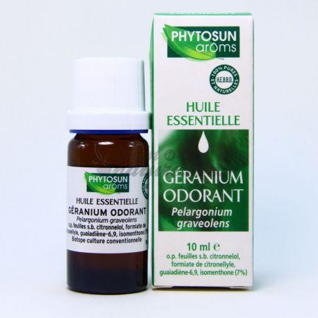 PHYTOSUN AROMS HUILE ESSENTIELLE GERANIUM ODORANT 10ML Pelargonium graveolens