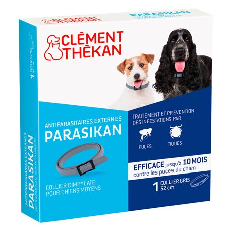 PARASIKAN COLLIER ANTI PUCES CHIEN INSECTICIDE CLEMENT THEKAN
