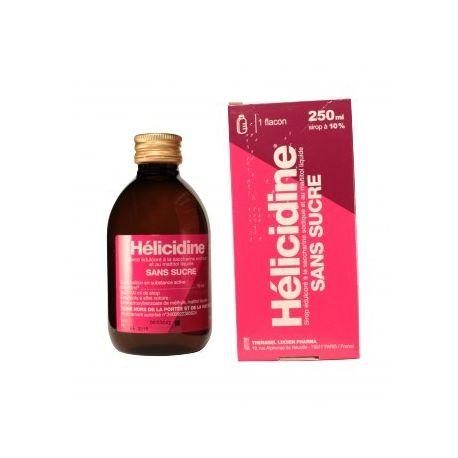 Sirop Helicidine 10 % sans Sucre Toux Sèche 250ml