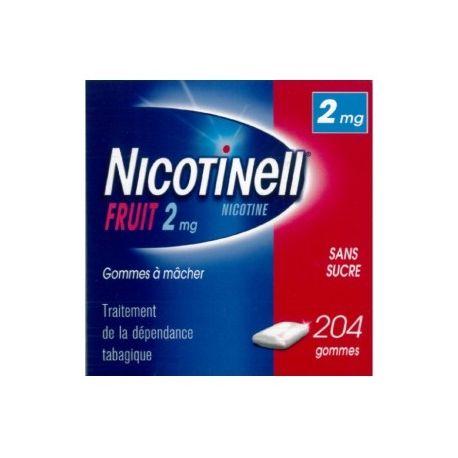 Nicotinell GUM FRUTAS 2MG 204