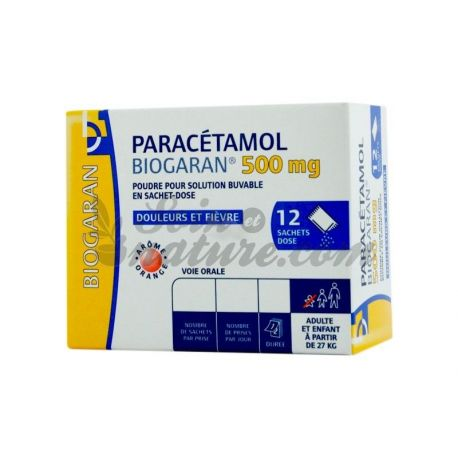 PARACETAMOL 500MG BIOGARAN 12 BAGS