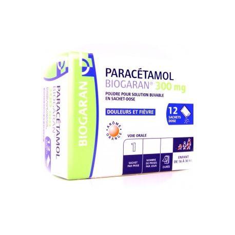 Paracetamol 300mg BIOGARAN 12 sacos