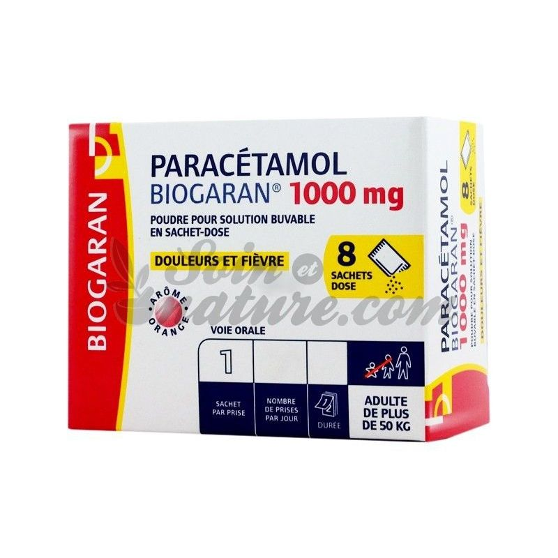 paracetamol 1000mg biogaran 8 sachets. Black Bedroom Furniture Sets. Home Design Ideas