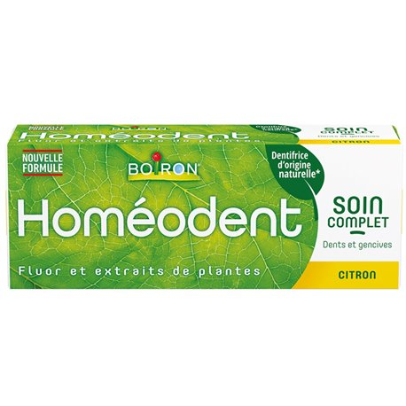 HOMEODENT DENTIFRICE CITRON SOIN COMPLET GENCIVES SENSIBLES 2 x 75ML