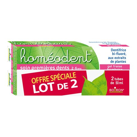 Homeodent Cura TOOTHPASTE homéopathie Boiron primeres dents 2 TUBS