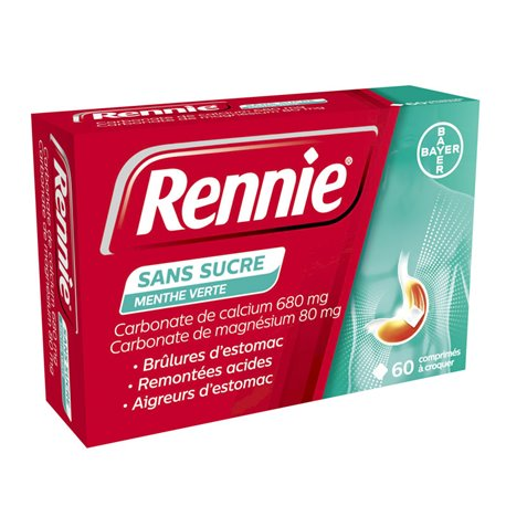 RENNIE MINT SENZA ZUCCHERO ANTI-ACID 60 COMPRESSE