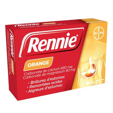 RENNIE ORANGE 36 TABLETS