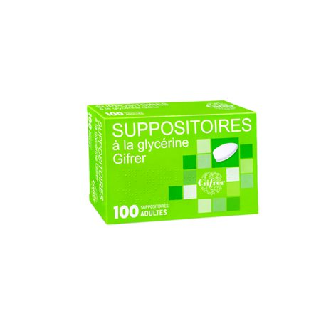 GLYCERINE SUPPOSITOIRES ADULTE GIFRER BOITE DE 100