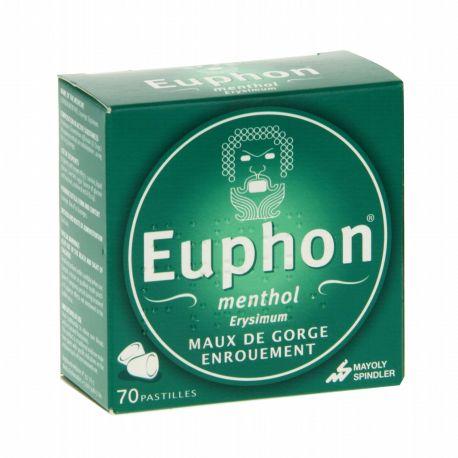 EUPHON MENTHOL 70 Pastilles pour les enrouements