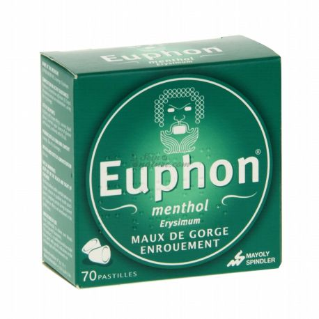 EUPHON MENTHOL 70 TABLETS