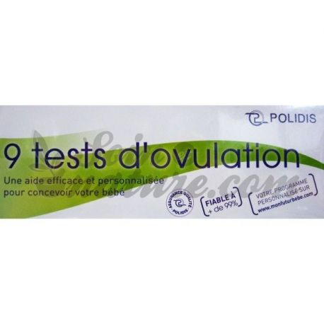 POLIDIS TEST OVULATION BOITE DE 9