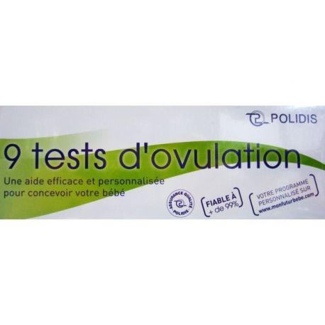 TESTE DE OVULAÇÃO POLIDIS CAIXA 9
