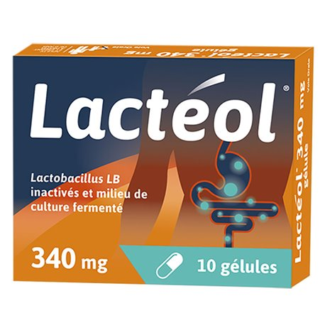 LACTEOL 340mg 10-30 CAPSULES ANTI DIARRHEA