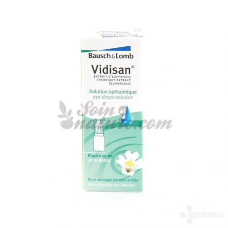 VIDISAN SOLUTION OPHTALMIQUE FLACON 10ML