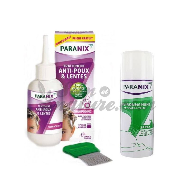 Paranix Anti Lice Shampoo Kit And Slow Spray Insecticide