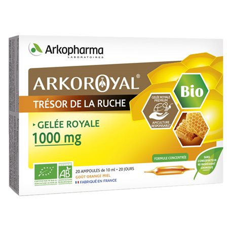 ARKOPHARMA ROYAL JELLY 1000MG 20 lâmpadas