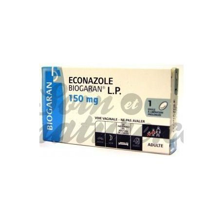 Econazole LP 150 MG BIOGARAN BOX 1 OVA
