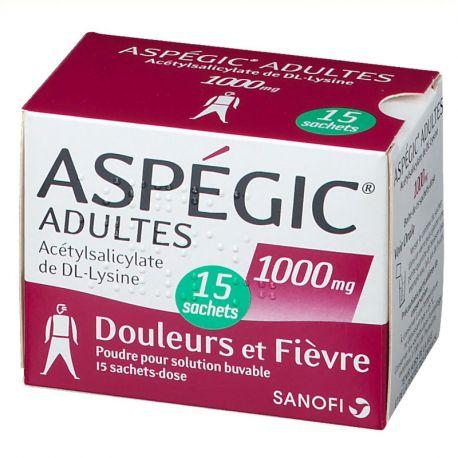 Aspegic 1000mg BOSSES D'ADULTS 15
