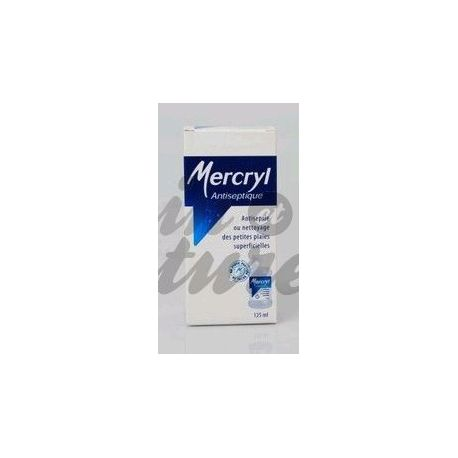 OPLOSSING FLES 125ML Mercryl ANTISEPTIQUE