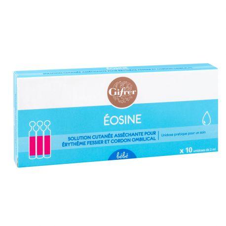 Eosine Aqueuse 2% 10 unidoses GIFRER 2 ml