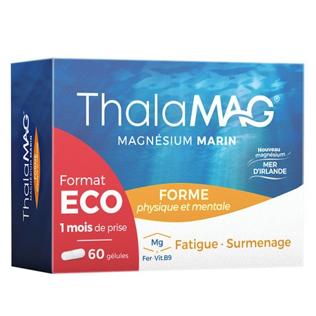 Cápsulas THALAMAG magnésio MARIN Ferro B9 IPRAD 2x30