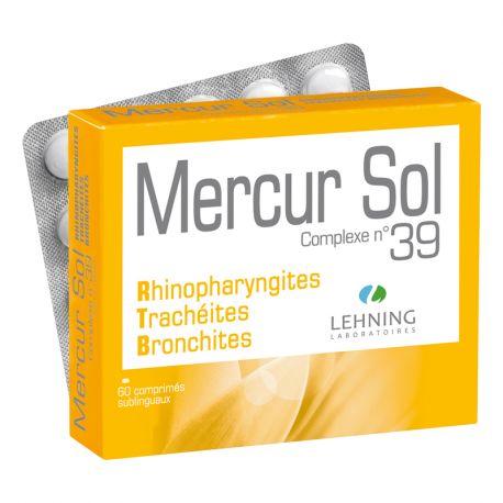 Mercur Sol Complexe L39 LEHNING 60 Comprimés