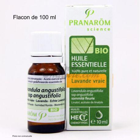 Biologische etherische olie Lavendel waar of fijne PRANAROM 100 ml