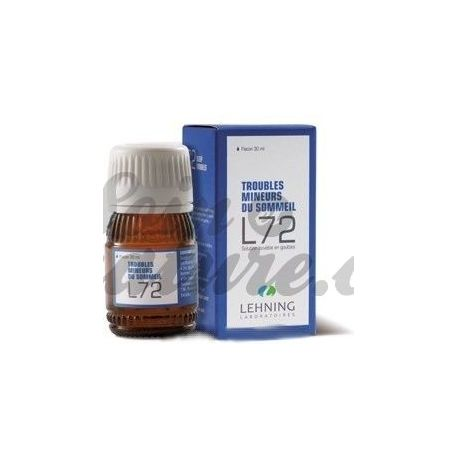 L72 TROUBLES SOMMEIL ANXIETE HOMEOPATHIE LEHNING 30ML