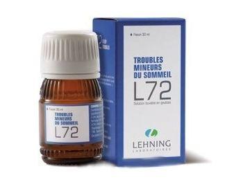 L72 Troubles Sommeil Anxiété Homéopathie LEHNING 30ML