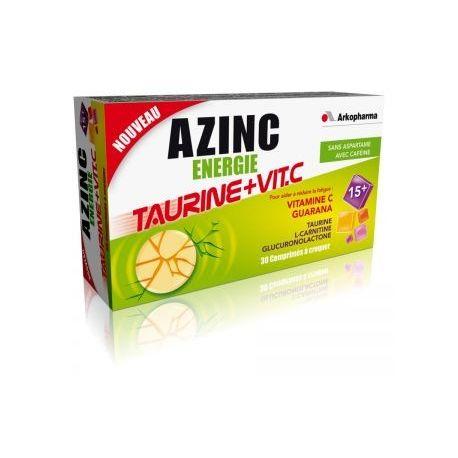 AZINC ÉNERGIE TAURINE + VITAMINE C - 30 Comprimés