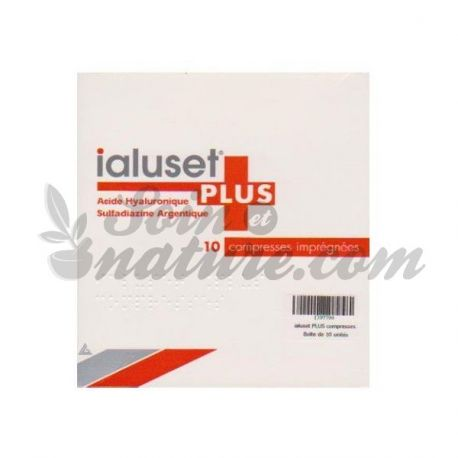 IALUSET PLUS 10 COMPRESSES IMPREGNEES 10x10cm